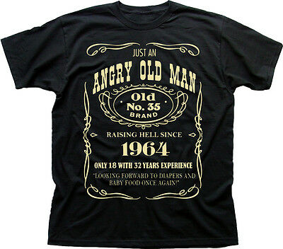 VINTAGE 1964 50th BIRTHDAY 50 years Angry Old Man quality t-shirt