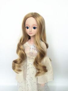 "New 1//8 Girl BJD SD Doll Wig Dollfie 5/"" DZ DOD LUTS Bjd Doll Wig Long Curly Hair"