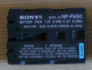 BATTERIE CAMESCOPE SONY NP FM50