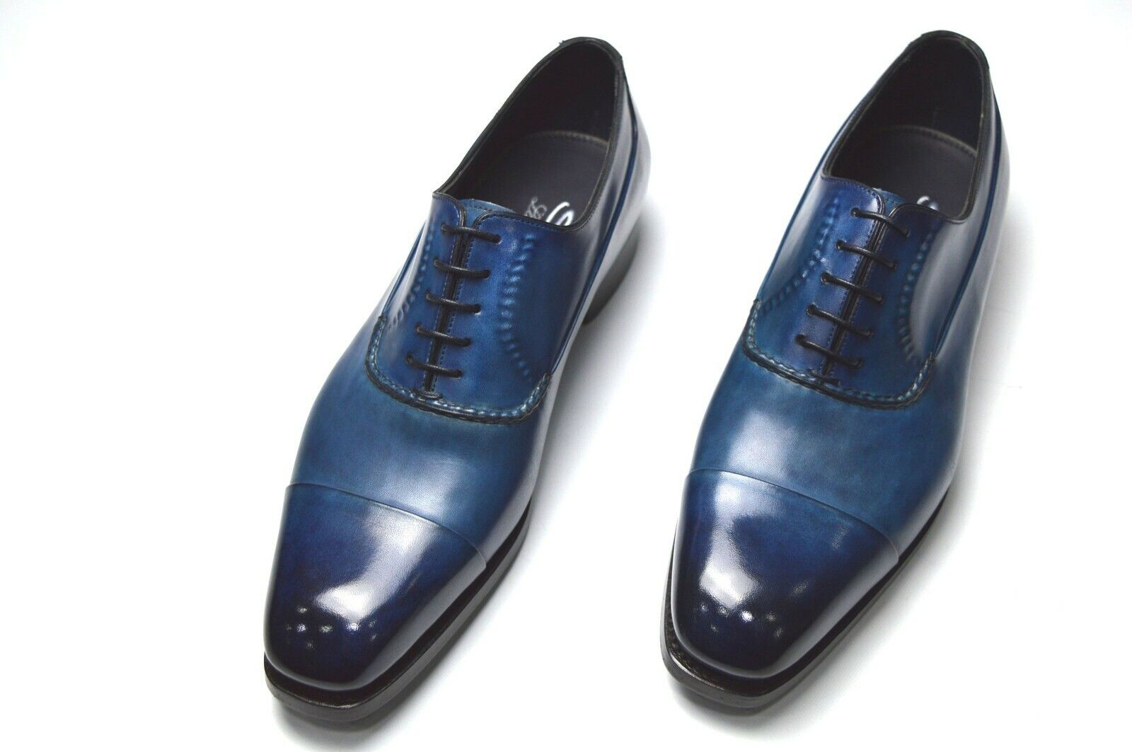 NEW SANTONI Dress  LIMITED EDITION scarpe Dimensione Eu 44 Uk 10 Us 11 (Led7)
