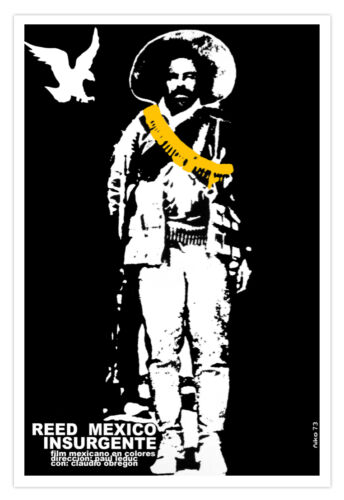 "Movie Poster for/""REED.Mexican rebel/""Charro Mexico insurgente.American Eagle art."