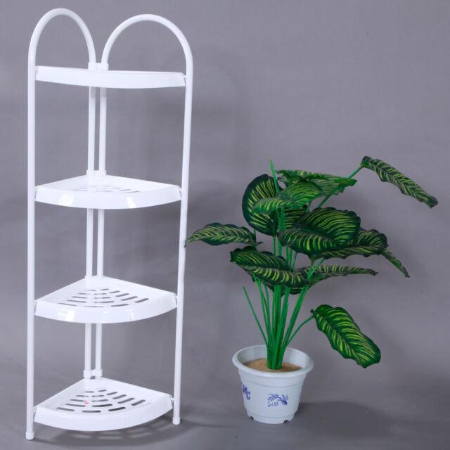 Corner Basket Shelf Rack Storage Shower Caddy 4 Tier Shelves ...