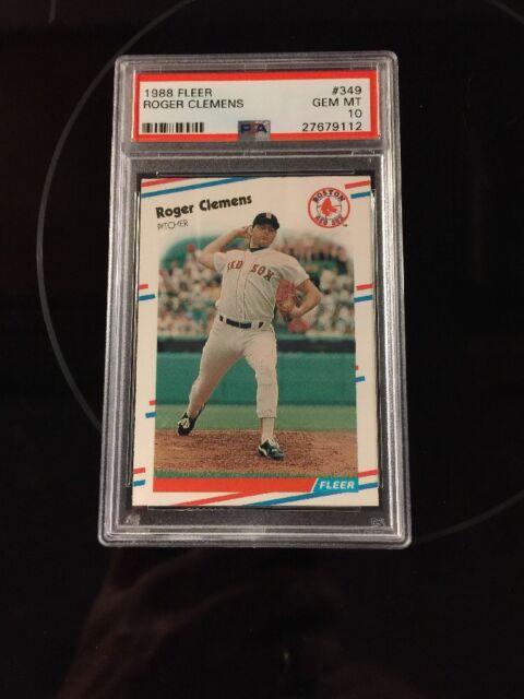 1988 Fleer Roger Clemens 349 Baseball Card