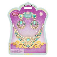 2015 Disney Store Aladdin Princess Jasmine Costume Jewelry Necklace Earrings Set