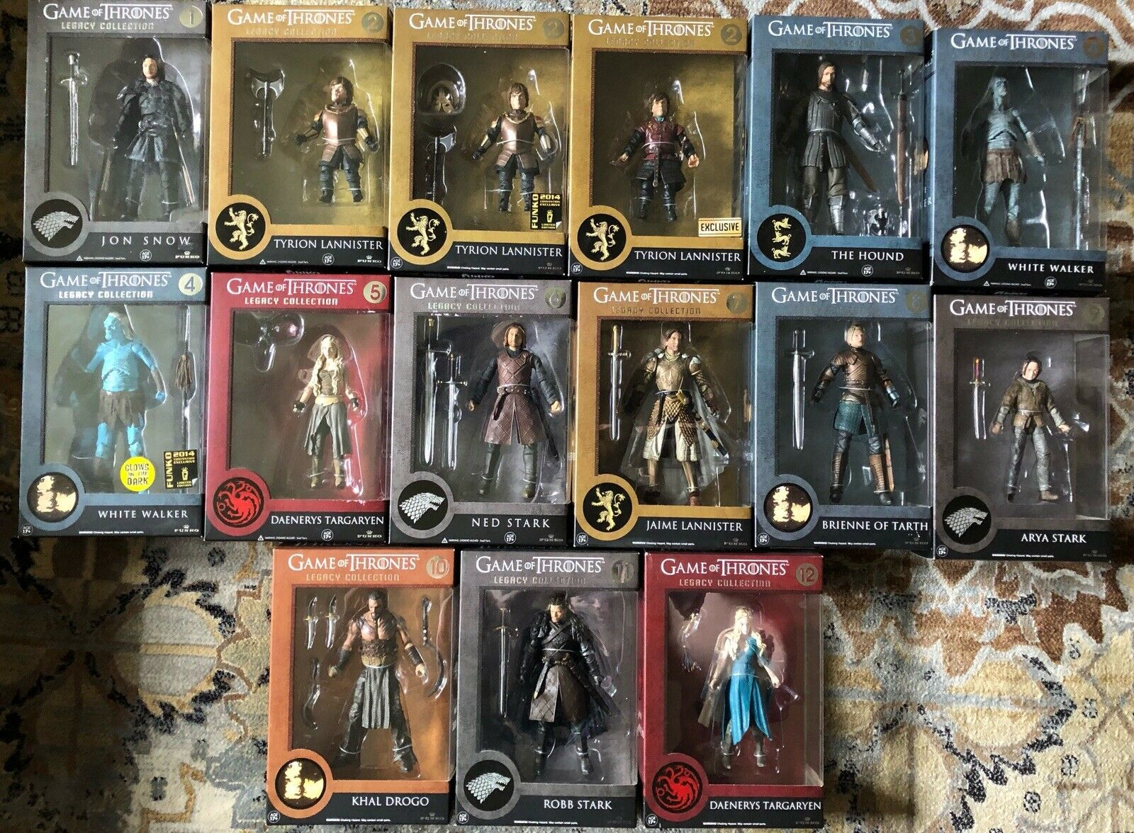 spel of Thrones Legacy samling Ifylls Set 6 65533;. Action Figures Series 1 & 2