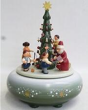 KWO Spieldose Spieluhr Am Weihnachtsbaum Original Handwerkskunst a.d. Erzgebirge