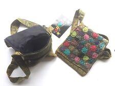 Green Polka dot Small cross body passport bag handbag Gringo Fair-trade