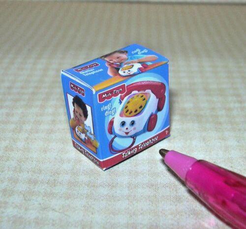 "DOLLHOUSE Miniatures 1:12 Scale Toys Miniature /""Talking Telephone Toy/"" Box"