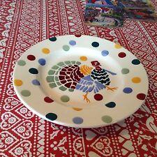 """Emma Bridgewater Polka Dots Turkey  8.5"""" Plate New Best"""
