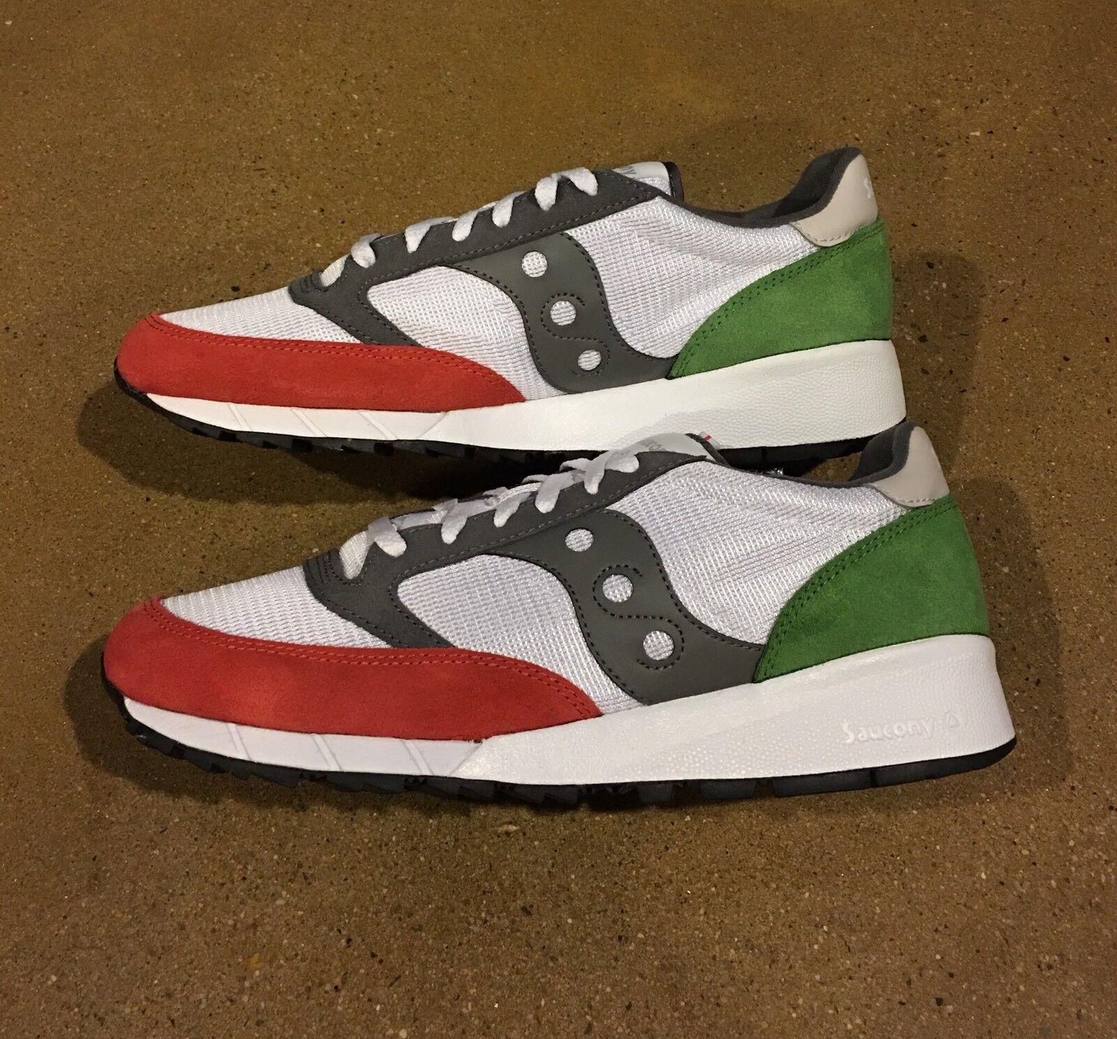 Saucony Jazz 91 uomo's Size 8 US White Red Green Running Shoes Sneakers Scarpe classiche da uomo