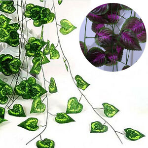 240cm-Ivy-Leaf-Garland-Green-Plant-Plastic-Vine-Foliage-Home-Garden-Decoration