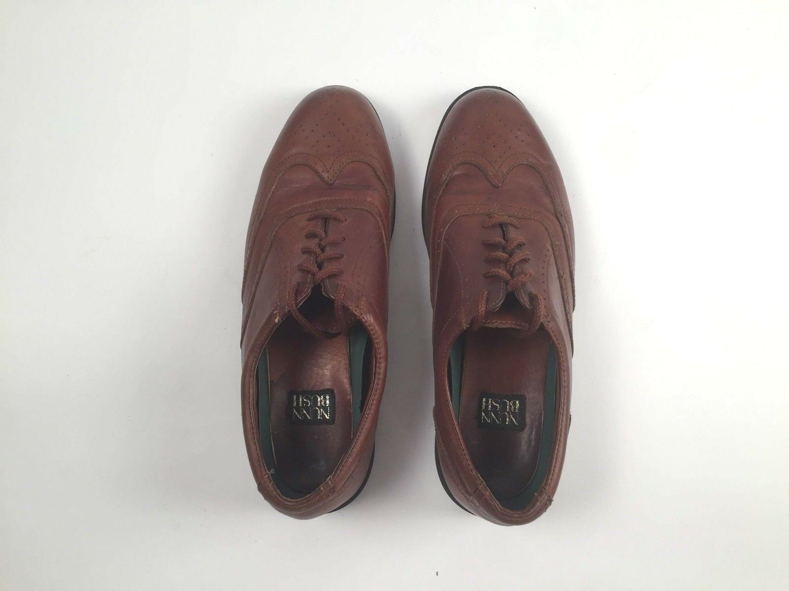 Men's Nunn Bush Brown Leather Oxford Medium Wingtip Dress Shoes 10 Medium Oxford - EUC fe5309