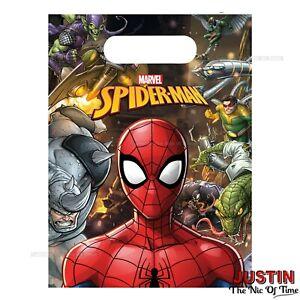 d5077f48d La imagen se está cargando Bolsas-De-Fiesta-De-Spiderman-Para-Ninos-Chicos-