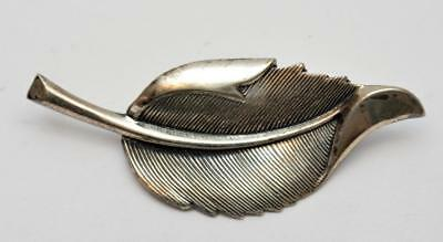 Fashion Jewelry Jewelry & Watches Enthusiastic Stamped Beau B Sterling Textured Leaf Shape Pin Brooch 5.20g Making Things Convenient For The People