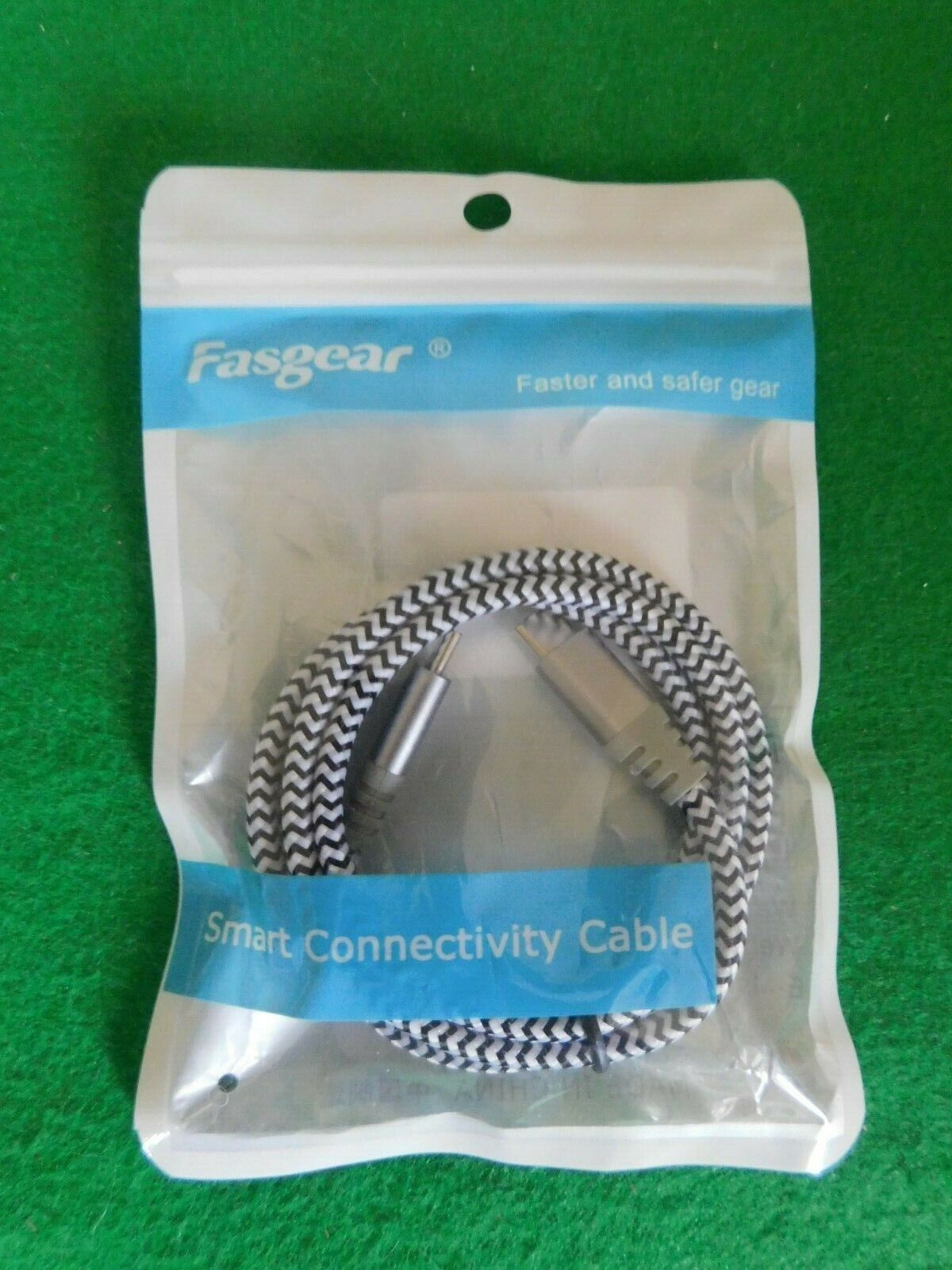 Fasgear USB 2.0 C To C Cable (3ft) – Nylon Braided USB to USB Cable Male to M...