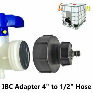 """Ibc Tap Hoze Cap Water 4"""" To 2"""" Hose Fit Stillage Tank Outlet Hose 1000 Litre"""