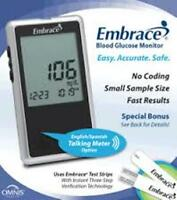 Embrace Blood Glucose Meter By Omnis- Brand In Box