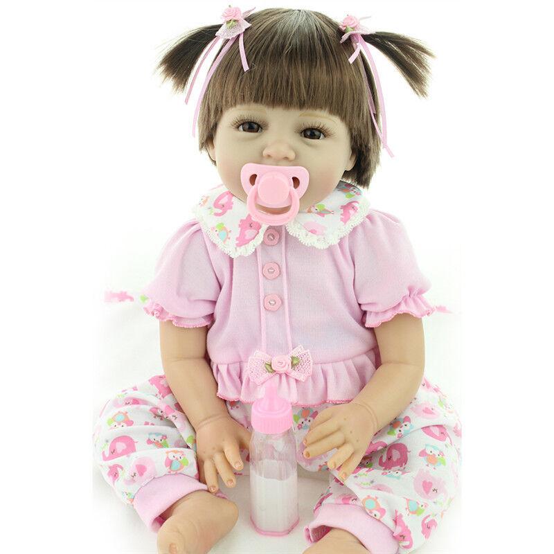 22 pollici neonato vinile morbido silicone handmade baby Dolls Bambole Reborn GIOCATTOLI giftgv