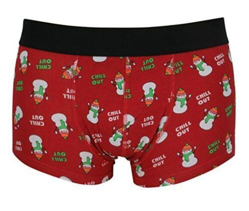 Tom Franks Mens Novelty Christmas Hipster Boxer Trunks One Pair