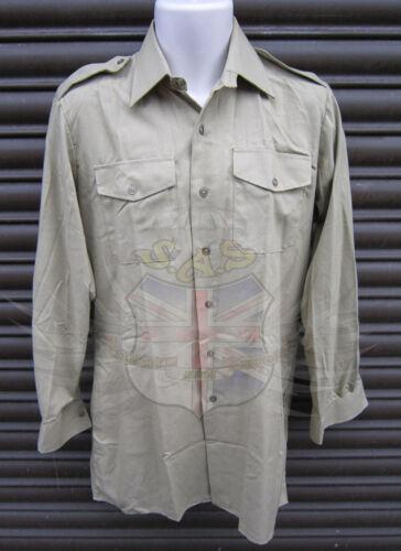 Nouvelle armée britannique surplus Mans Light Olive Coton Chemise à Manches Longues-Fantaisie//Parade