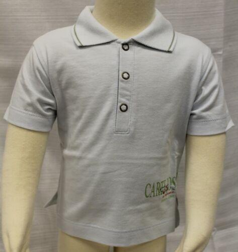 JACADI Boy/'s Math Sky Blue Cotton Short Sleeve Polo Shirt Size 6 Months NWT $30