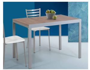 Tavolo Allungabile Alluminio Deco Nocciola Con Piano Nobilitato Cm 110 X 70 Ebay