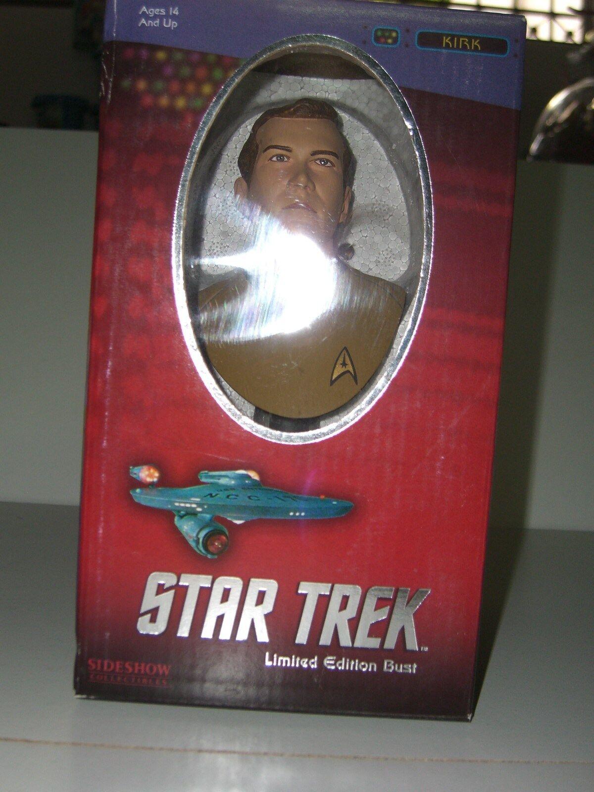 STAR TREK SIDESHOW MINI BUST CAPT. JAMES T. KIRK STATUE 2303/5000 MIB