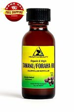 TAMANU / FORAHA OIL ORGANIC UNREFINED COLD PRESSED PURE 1 OZ in GLASS BOTTLE