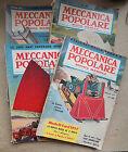 """LOTTO 4 RIVISTE """"MECCANICA POPOLARE"""" ANNO 1957 Motori auto modellismo aerei - A5"""