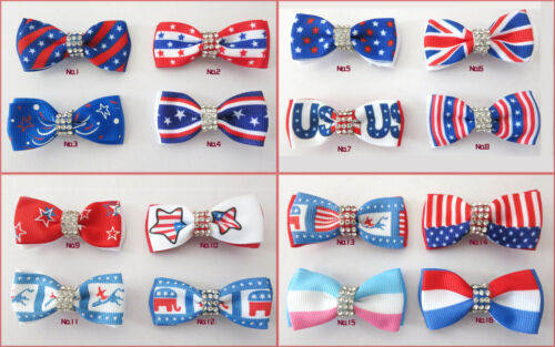 50 BLESSING Good Girl  2 Double Bowknot Hair Bow Clip National Accessories