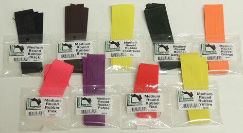 Hareline Medium Round Rubber All Colors