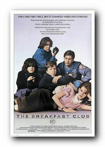 1985 80s Teen High School Size 24x36 NEW THE BREAKFAST CLUB Poster Movie