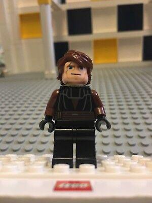 LEGO Star Wars Clone Wars Anakin Skywalker sw183 Minifigure Brown and Black