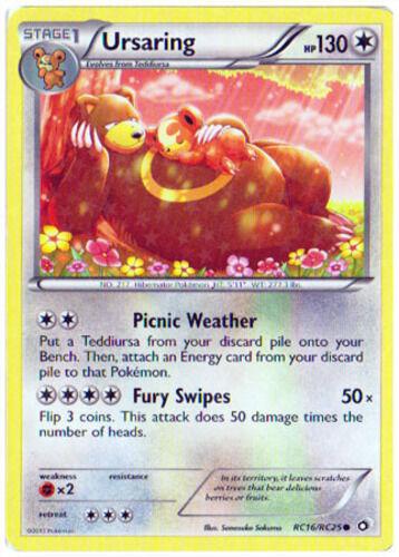 Common Pokemon BW11 Legendary Treasures M//NM English x4 Ursaring RC16//RC25