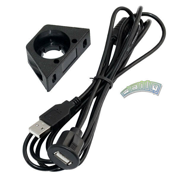 USB-EC Motorcycle Car Dash Mount Installation USB Accessory Extension Cable M/F