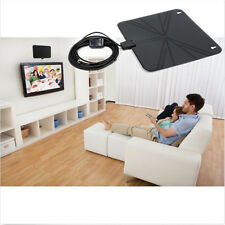 Indoor HD Flat Design Amplified TV Digital Antenna with Amplifier 50 Miles DD