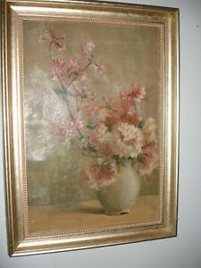 GREAT FRAMED STILL LIFE OIL ON CANVAS PAINTING