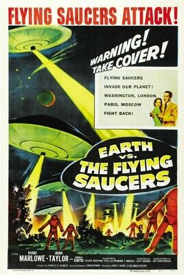 Earth vs.the Flying Saucers Movie Poster Art 8x10 11x17 16x20 22x28 24x36 27x40