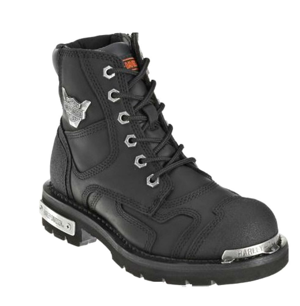 Harley-Davidson® Women's Stealth Black Leather Motorcycle Boots D81641