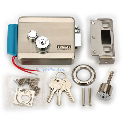 Stainless Steel 12V Electric Release Door Lock NO Mode for Access Control System