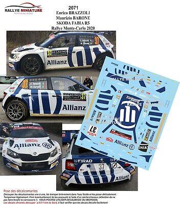 AUTO DA RALLY SKODA FABIA R 5  WRC   SCALA 1//24