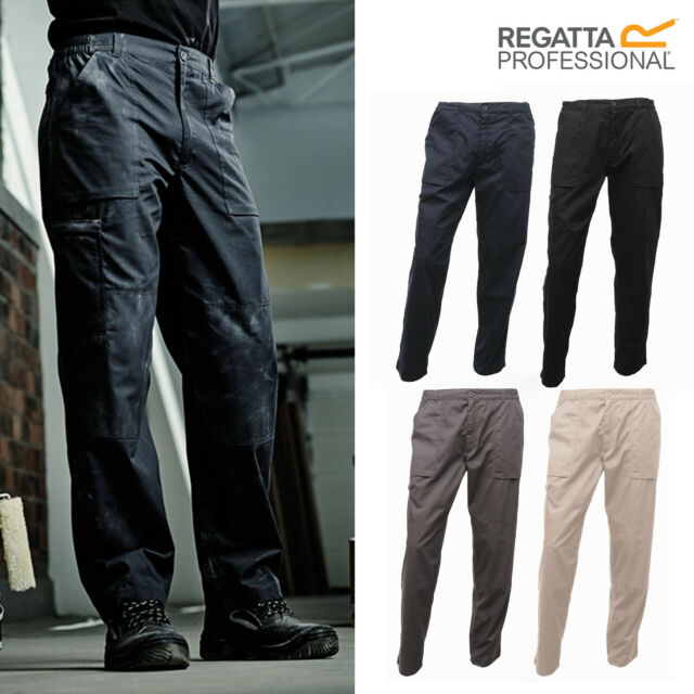BLACK 44//R NEW MENS REGATTA WORKWEAR ACTION TROUSERS N12