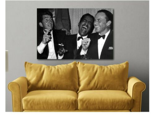 Dean Martin Sammy Davis Jr And Frank Sinatra Laughing  Canvas Wall Art