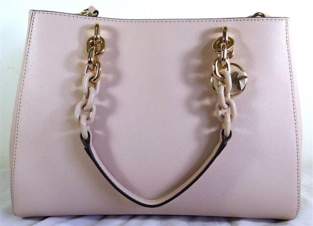 feeaa81e726a Michael Michael Kors Cynthia Medium Soft Pink Saffiano Leather Satchel Bag