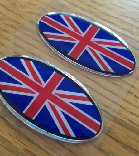 ENGLAND FLAG HELMET 3D REFRACTIVE REFLECTING STICKERS EMBLEM OVAL MADE  ITALY