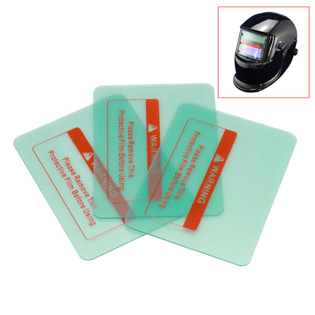 "10Pcs 4.6""x3.5"" Welding Helmet PC Clear Lens Cover Replacement Protective Plate"