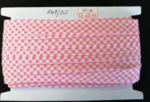 20 metros planos inclinados banda ancha de 18mm 0,58 €//m patrones dobla cuadros 100/% algodón