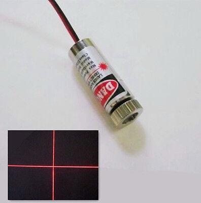 3V 5mW Adjustable Red Laser Cross Module Focus Cross Stripe Lens Laser Head