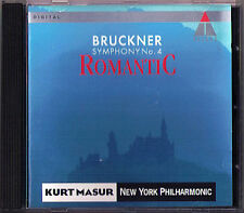 Kurt MASUR: BRUCKNER Symphony No.4 Romantic New York Phil 1991 Live CD Sinfonie