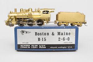 HO-BRASS-PFM-B-amp-M-B-15-2-6-0-PACIFIC-FAST-MAIL-FOX-TENDER-TRUCKS-BOSTON-amp-MAINE